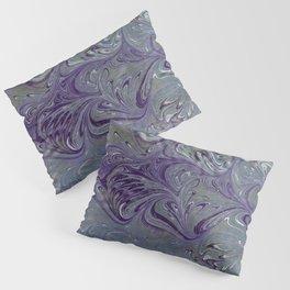 Purple, Blue, & Green Marbled Pillow Sham