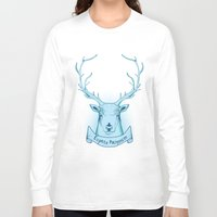 harry potter Long Sleeve T-shirts featuring Expecto Patronum- Harry Potter by Manfred Maroto