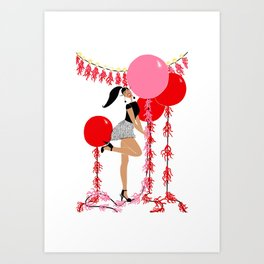 Celebrate with Balloons Art Print