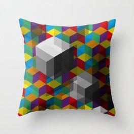 Isometric Colour Throw Pillow