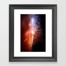 island fireworks Framed Art Print