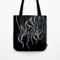 haim Tote Bags featuring HAIM- Long Locks (Dark) by Tune In Apparel