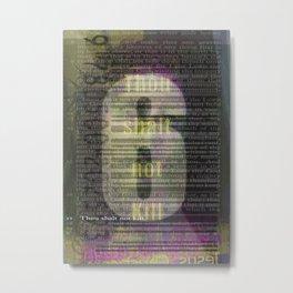 6 Metal Print