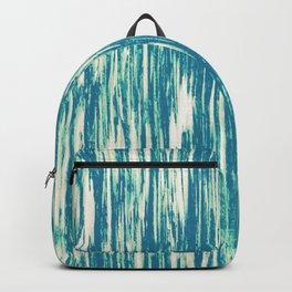 Ikat Streaks in Aqua Backpack