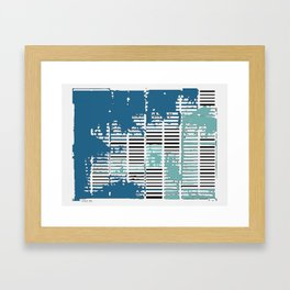 Shadows Through Shutters Framed Art Print