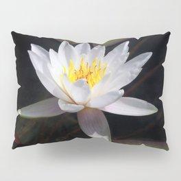 The white nymphaea Pillow Sham