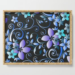 Flowers wall paper 7 Serving Tray