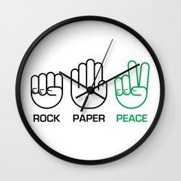 Rock Paper Peace Wall Clock