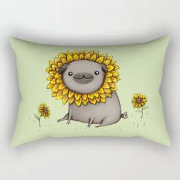 Pugflower Rectangular Pillow