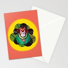 Monkey See, Monkey Voodoo - dark version Stationery Cards