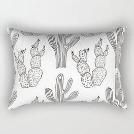 Austin Cacti Print Rectangular Pillow
