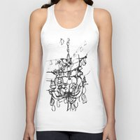 chandelier Tank Tops featuring Chandelier by Kim Ly