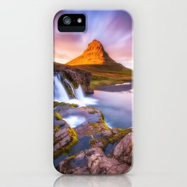 Beautiful Mountain and waterfall iPhone Case