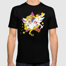 Sailor Moon SMALL Black Mens Fitted Tee