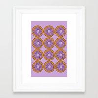doughnut Framed Art Prints featuring doughnut by AWOwens