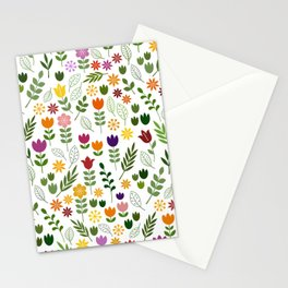 Scandinavian Style Flora & Fauna Pattern Stationery Cards