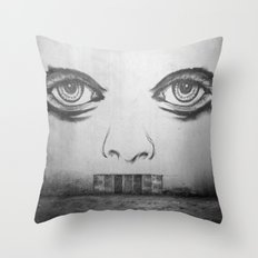 If this wall could talk Throw Pillow