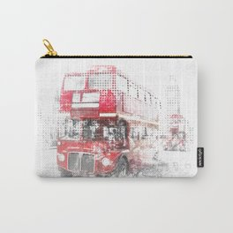 Graphic Art LONDON WESTMINSTER Street Scene Carry-All Pouch