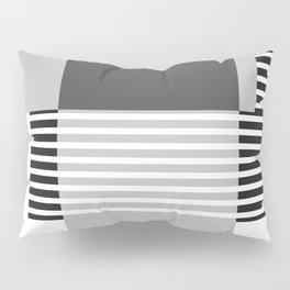Marfa Abstract Geometric Print in Black and White Pillow Sham