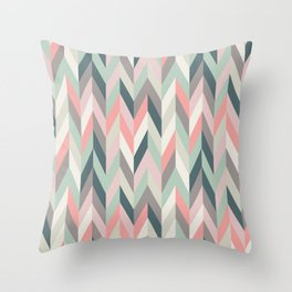 Aaron in Pink and Mint Throw Pillow