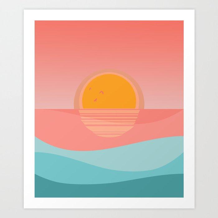 Minimal Sunset 1 Art Print