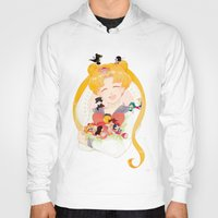 sailor moon Hoodies featuring Sailor Moon by cezra