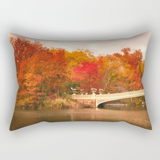 New York City Autumn Magic in Central Park Rectangular Pillow