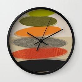 Mid-Century Modern Ovals Abstract Wall Clock