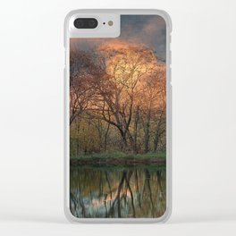 Sunset at White Oak Pond Clear iPhone Case