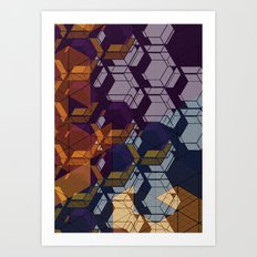 Graphic Geometric Art Print