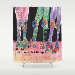 Roller Derby Girls Shower Curtain
