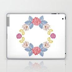 Hand Drawn Floral Wreath Design Laptop & iPad Skin
