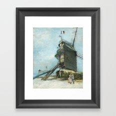 Van Gogh - The Moulin de la Galette Framed Art Print