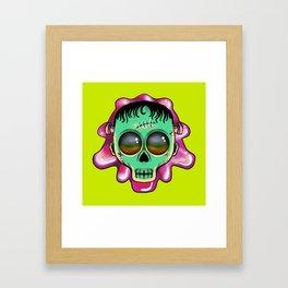 Cute Skulls Franky Framed Art Print