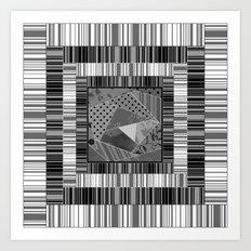 Abstract pattern . Patchwork striped . Art Print