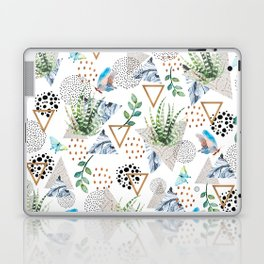 Geometric with cactus and butterflies Laptop & iPad Skin