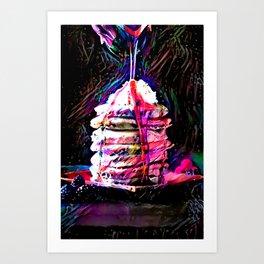 Portrait of Neon Pancakes Art Print
