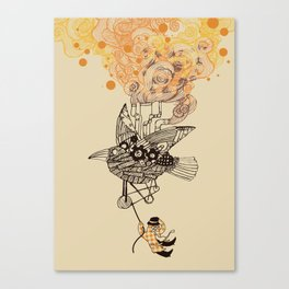 The wacky traveling machine Canvas Print