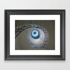 Blue Spiral Framed Art Print