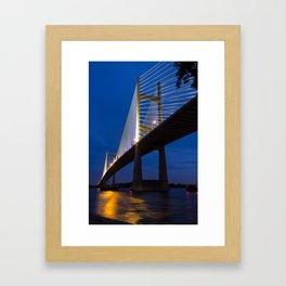 Dames Point Bridge at Twilight Framed Art Print
