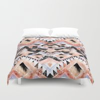 southwest Duvet Covers featuring Southwest Floral by Casey Saccomanno