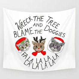 Festive Cats Wall Tapestry