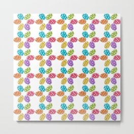 Colorful Easter eggs pattern Metal Print