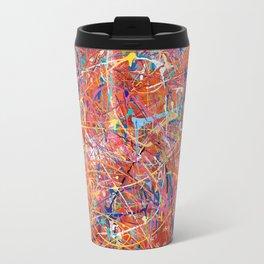 Orange Expression Travel Mug