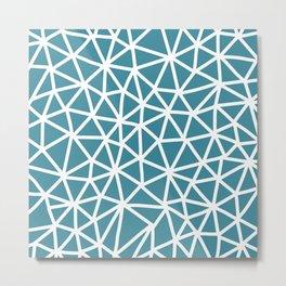 Tessa - Bright Blue Metal Print