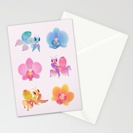 Orchid mantis Stationery Cards