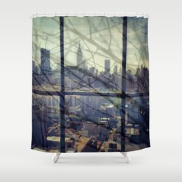reflections in the city Shower Curtain