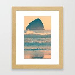 CAPE KIWANDA - OREGON Framed Art Print