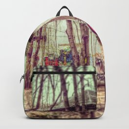 graffiti in the woods Backpack