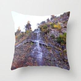 Tiny Waterfall Throw Pillow